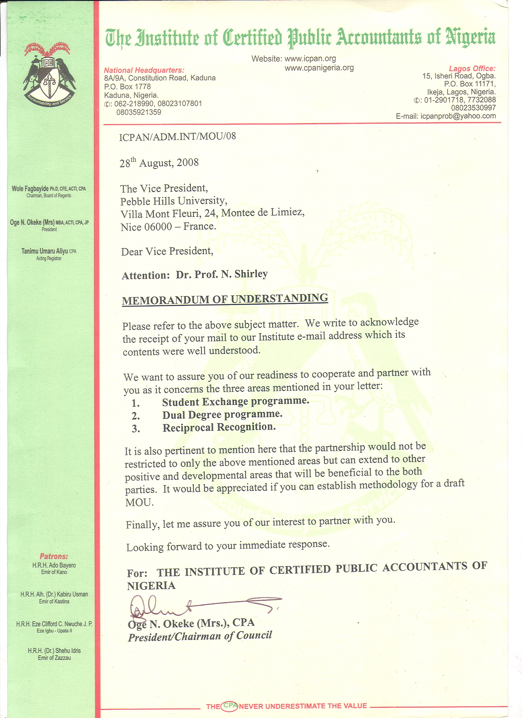 About recognition the institute of certified public accountants of nigeria 1betcityfo Image collections
