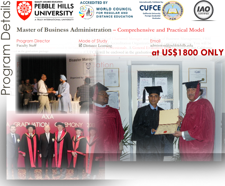 Pebble Hills University MBA
